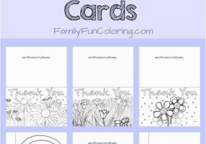 Thank You Coloring Pages Print Printable Thank You Cards to Color Familyfuncoloring Printables