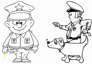 Thank You Police Officer Coloring Page Police Ficer Coloring Pages at Getcolorings
