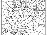 Thanksgiving Color by Numbers Pages Printables Best Color by Number Turkey Coloring Sheet Gallery