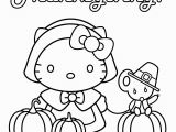 Thanksgiving Coloring Pages Hello Kitty 5 Worksheet Coloring for Pre School Kids Page