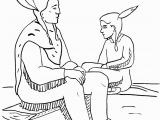 Thanksgiving Indian Color Pages Native American Coloring Pages