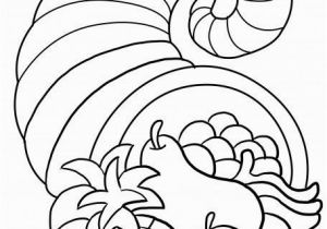 Thanksgiving Preschool Coloring Pages Free Thanksgiving song and Free Printable Cornucopia Coloring