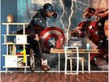 The Avengers Wall Mural 45 Best Marvel Wall Murals Avengers Wallpaper Murals