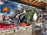 The Avengers Wall Mural Großhandel Avengers Fototapete Gewohnheit 3d Hulk Tapete Graffiti Tapete Kinder Schlafzimmer Wohnzimmer Büro Tv Kulisse Superheld Die Einrichtung Der