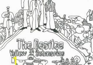The Beatles Coloring Pages Downtown Doodler S Doodles Yellow Submarine