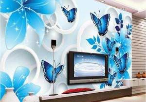 The Best Wall Murals Simple Wallpaper 3d Mural Tv Background Wall Mural Living Room Wall Covering Blue Lily Custom Wallpaper sofa Background Wall