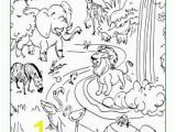 The Creation Coloring Pages for Children God Made the Animals Coloring Page