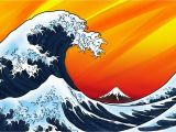 The Great Wave Off Kanagawa Wall Mural Art Design Creative Agency Munich