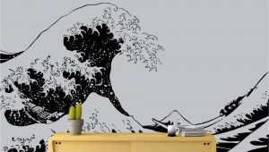 The Great Wave Off Kanagawa Wall Mural Japanese the Great Wave F Kanagawa by Hokusai Wall Decal