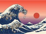 The Great Wave Off Kanagawa Wall Mural the Great Wave Of French Bulldog Graphic Print by