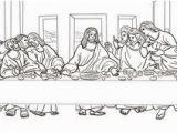 The Last Supper Coloring Pages Printable to See Printable Version Of the Last Supper by Leonardo Da