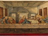 The Last Supper Mural fore Edge Painting Hidden Artworks Painted On the Edges Of Books
