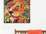 The Lion King Wall Murals the Colorful Lion King Painting Wall Art Home Decor Modern Canvas