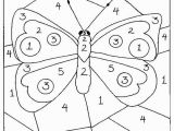 The Number 3 Coloring Page Color by Numbers butterfly Coloring Pages for Kids Printable