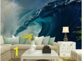 The Perfect Wave Wall Mural Custom Home Decor Wall Murals Papel De Parede Ocean Waves Photo Wallpaper Mural for Living Room Bedroom Tv sofa Background Decal