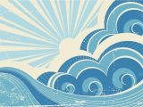 The Perfect Wave Wall Mural Retro Surf Mural Wallpaper