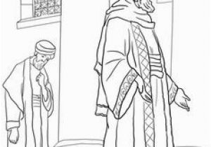 The Pharisee and the Tax Collector Coloring Page 57 Best Pharisee and Tax Collector Images