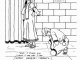 The Pharisee and the Tax Collector Coloring Page Matthew the Tax Collector Coloring Page Best Image Coloring