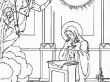 The Pigeon Coloring Pages Virgin Mary Angle Gabriel and the Pigeon Saints Day Coloring Page