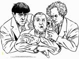 The Three Stooges Coloring Pages the Three Little Stooges Activity Page
