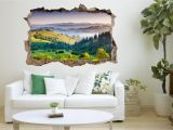 The Wall that Cracked Open Mural 3d Mountains Landscape 112 Broken Wall Murals