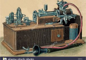 Thomas Edison Coloring Pages Phonograph Stock S & Phonograph Stock Alamy