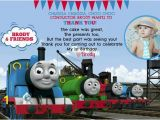 Thomas Friends Wall Mural Thomas the Train Invitation and Thank You Card by