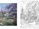 Thomas Kinkade Disney Coloring Pages Posh Adult Coloring Book Thomas Kinkade Designs for Inspiration & Relaxation Paperback