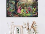 Thomas Kinkade Wall Murals 2019 Thomas Kinkade Sleeping Beauty Hd Canvas Prints Wall Art