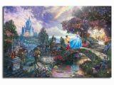 Thomas Kinkade Wall Murals Cinderella Wishes Upon A Dream Thomas Kinkade Hd Painting Living