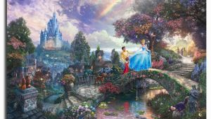 Thomas Kinkade Wall Murals Cinderella Wishes Upon A Dream Thomas Kinkade Hd Painting Living