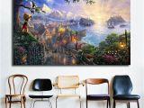 Thomas Kinkade Wall Murals Thomas Kinkade Pinocchio Wishes Upon A Star Hd Canvas Painting Print