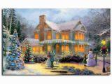 Thomas Kinkade Wall Murals Thomas Kinkade Victorian Family Christmas Illuminated Art Canvas