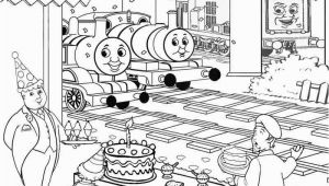Thomas the Tank Engine Coloring Pages Birthday Kids Activities Printable Birthday Cake Coloring Pictures