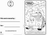 Thomas the Tank Engine Coloring Pages Birthday Thomas and Friends Birthday Card – Flynn Thomasandfriends