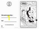 Thomas the Tank Engine Coloring Pages Birthday Thomas the Engine Birthday Card