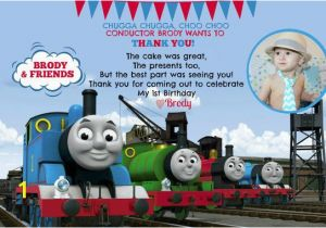 Thomas the Tank Engine Wall Murals Thomas the Train Invitation and Thank You Card by Pleased2announce