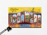 Thomas the Train Wall Mural Greetings From Ironwood Michigan Wall Mural – Wallmonkeys