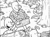Three Little Pigs Coloring Pages Disney Coloring Hd Football