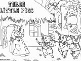 Three Little Pigs Coloring Pages Disney Graphics by Ruth 3 Little Pigs Straw House Brick House