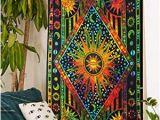 Tie Dye Wall Mural Future Handmade Mandala Multi Color Sun Moon Tie Dye Twin Tapestry