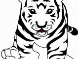 Tiger Outline Coloring Page Free Tiger to Print Download Free Clip Art Free