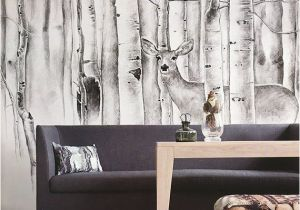 Tiger Woods Wall Mural Cerf Dans Mur Murale Animaux forªt De Mur Bois Papier Peint