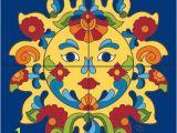 Tile Mural Creative Arts Tile Mural Talavera Sunface Tiles