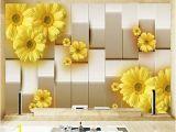 Tile Murals for Kitchen Walls Amazon Hwhz Custom Mural Wallpaper 3d Stereo Yellow