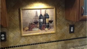 Tile Murals for Kitchen Walls Bread and Wine Tile Mural