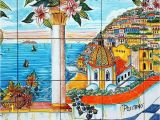 Tile Murals for Kitchen Walls Ceramic Murals for Kitchen Backsplash Coast Of Positano