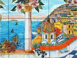 Tile Murals for Kitchen Walls Ceramic Murals for Kitchen Backsplash Coast Of Positano