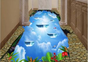 Tile Murals for Kitchens 3d Pvc Flooring Custom Cliff Sky Bathroom Kitchen Hotel