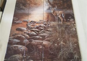 "Tile Murals for Kitchens Beside Still Waters Tile Mural On 6"" Tiles at £216"